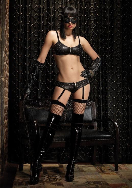 Эротический комплект BAD GIRL SET BLACK MED-LGE