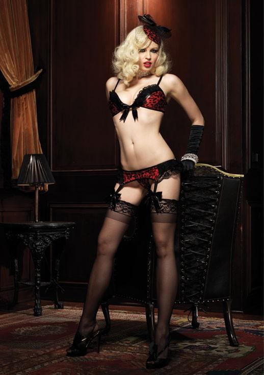 Сексуальный комплект TEMPTRESS SET BLACK-RED S