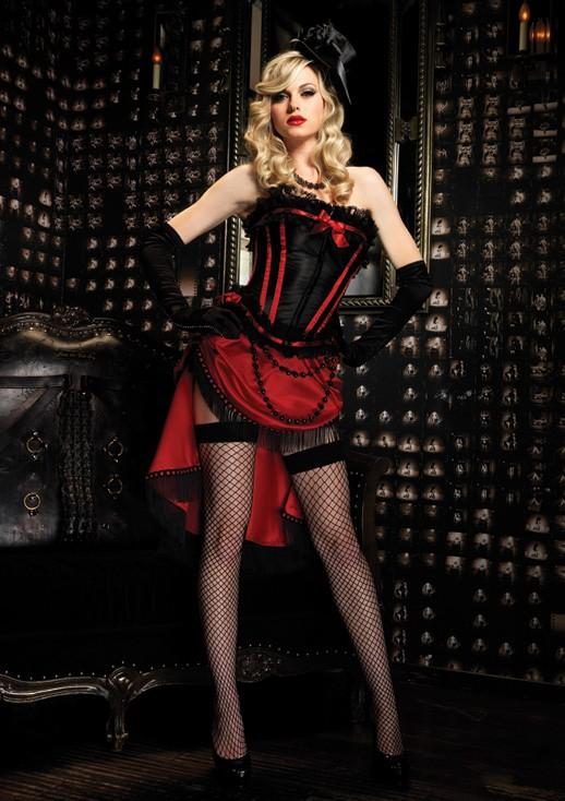 Корсет SCARLETT CORSET BLACK-RED L