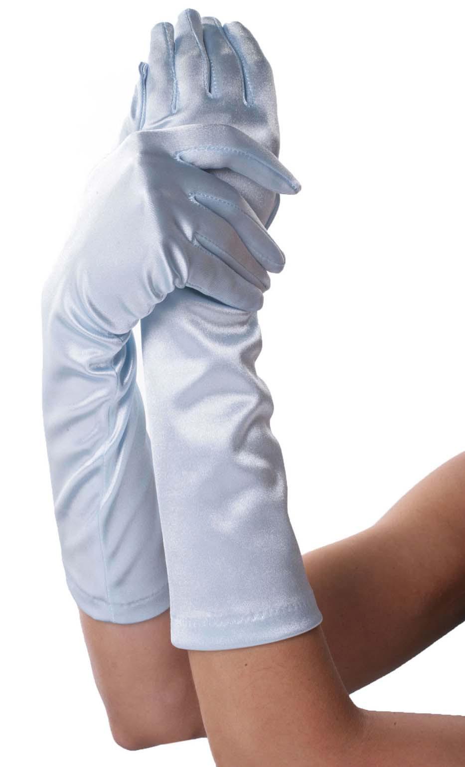 Перчатки ELBOW LENGTH SATIN GLOVE WHITE O-S