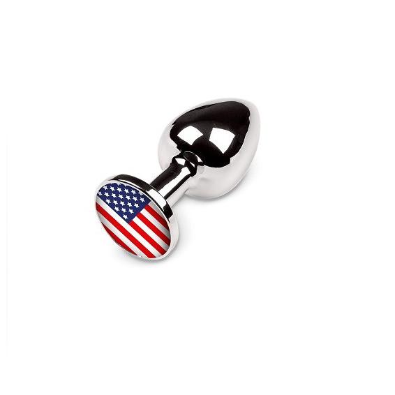 Маленькая анальная пробка с американским флагом