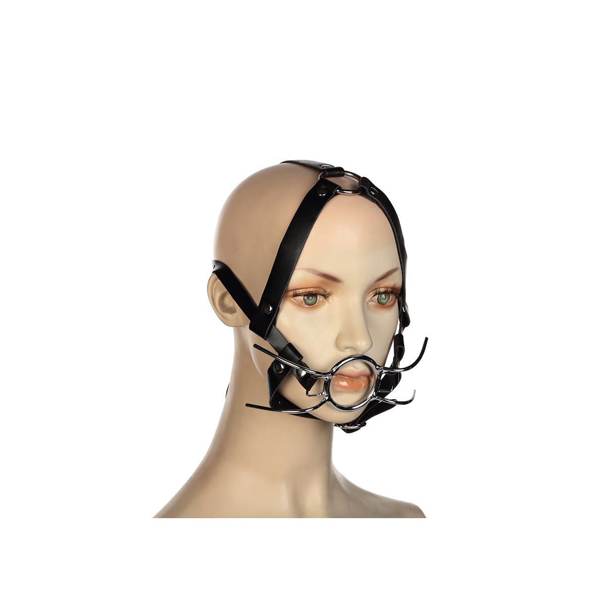 Кляп-расширитель с кольцом и бондажем на голову