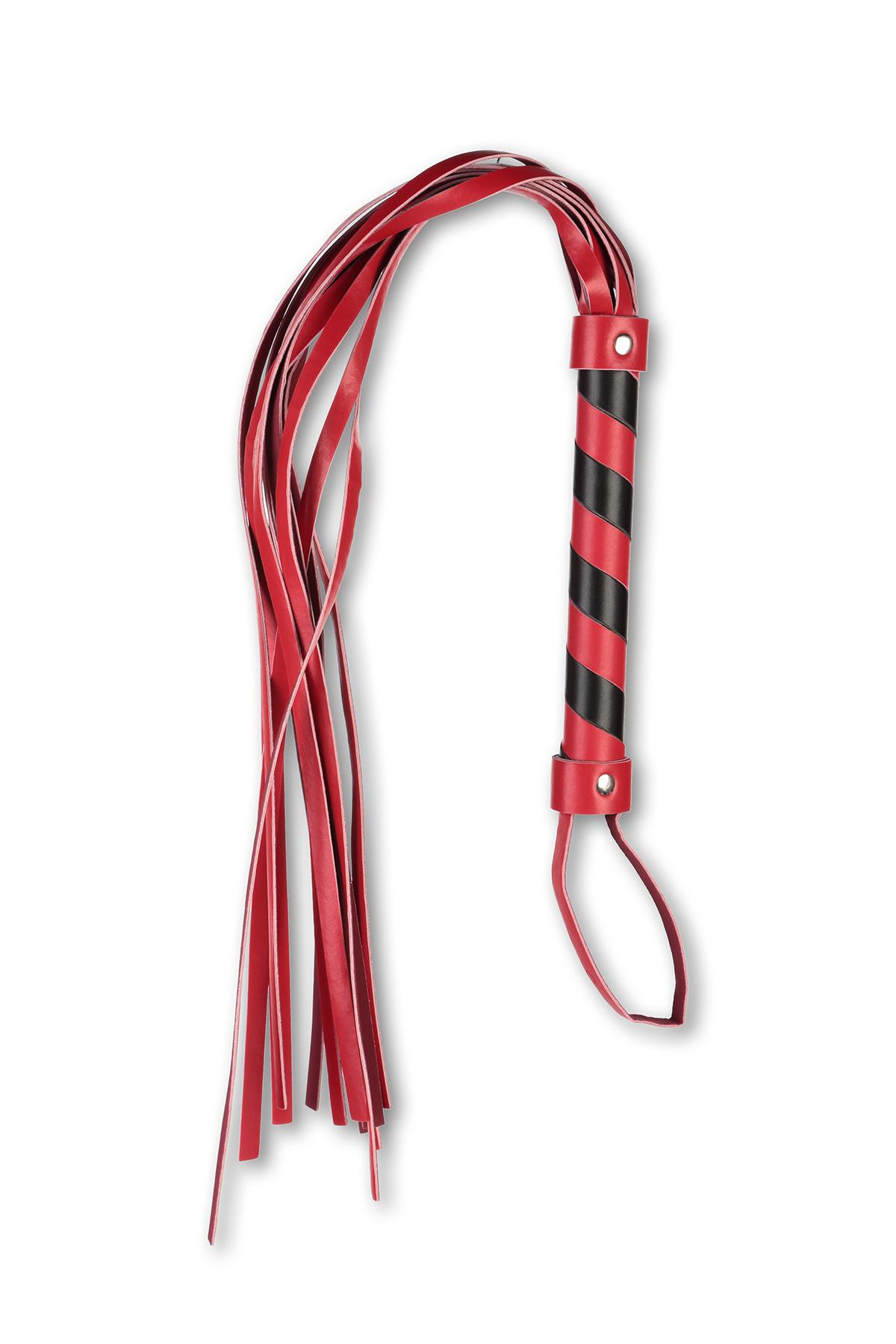 Плеть многохвостовка с красно-черной рукоятью