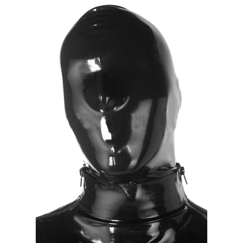 Мужская маска из литого латекса с отверстиями для ноздрей Latex Moulded Mask
