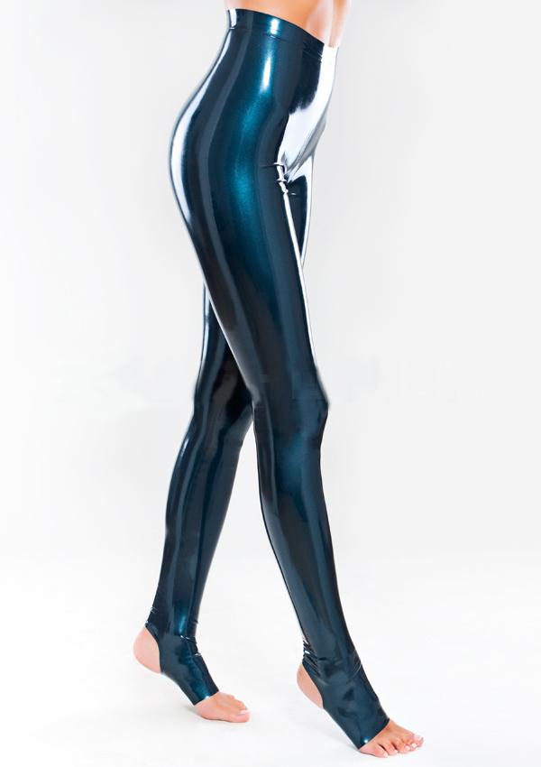 Леггинсы с открытыми пяткой и носком из латекса Stirrup Latex Leggings