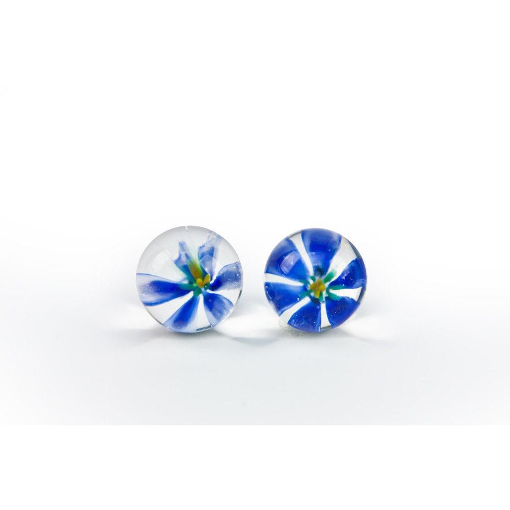 Вагинальные шарики TLC CyberGlass Ben Wa Balls, синие