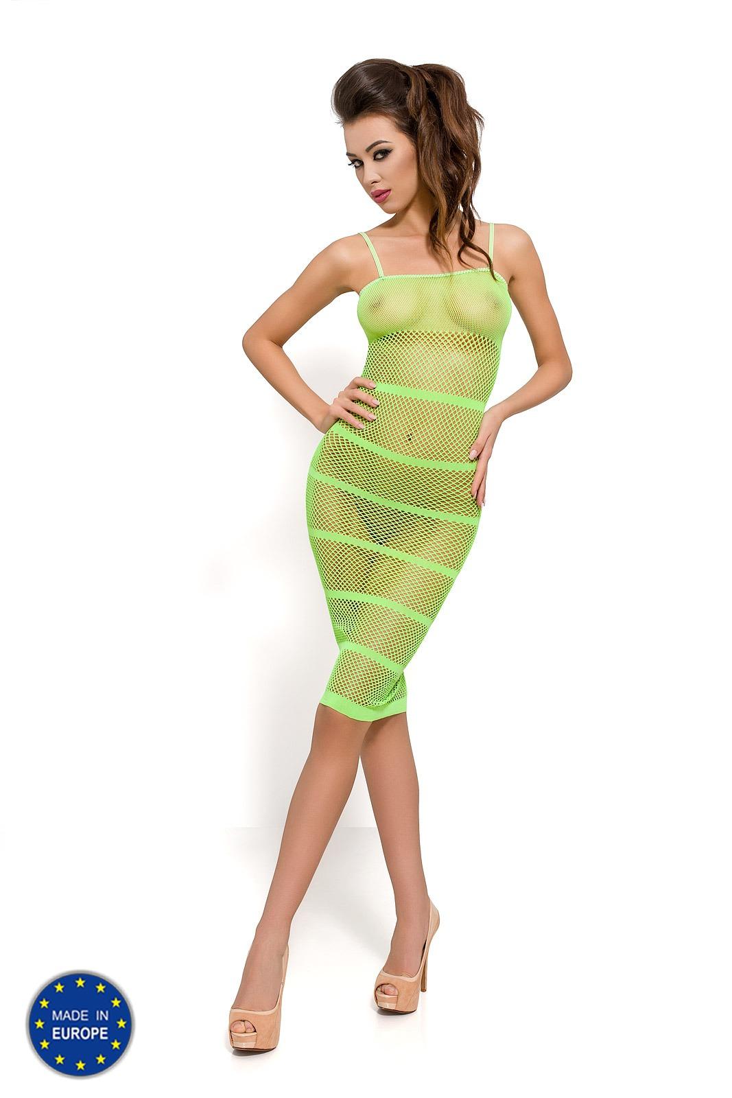 Прозрачное сексуальное платье Passion PBS033, зеленое