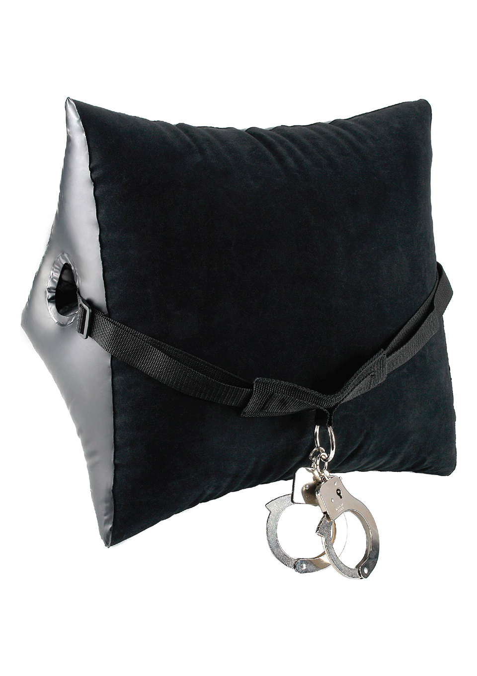 Надувная подушка с наручниками Position Master With Cuffs Black