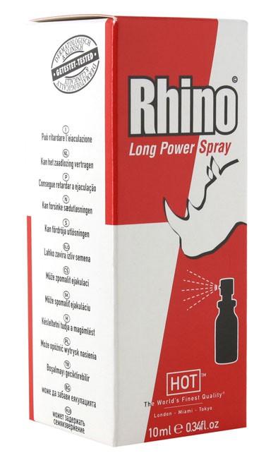 Спрей продлевающий для мужчин HOT RHINO LONG POWER SPRAY 10ML