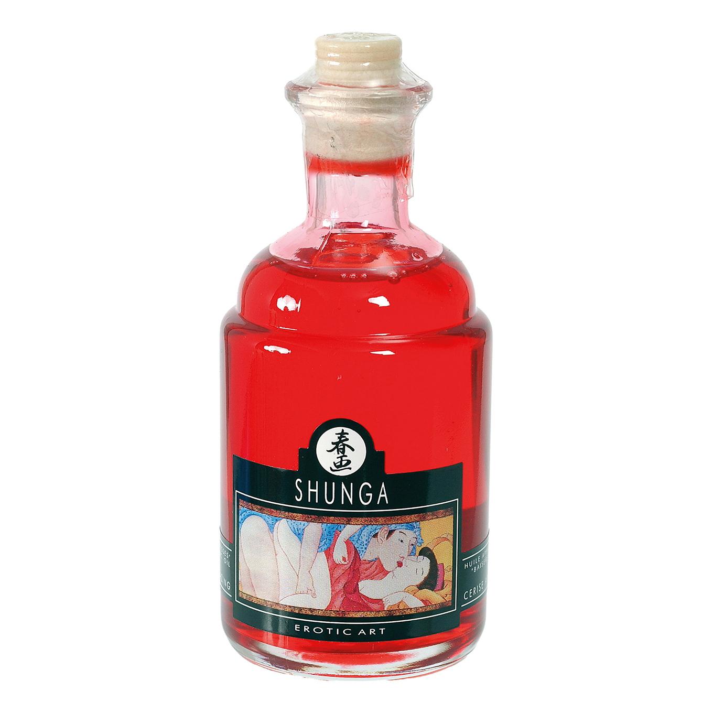 Возбуждающее массажное масло Shunga, вишня