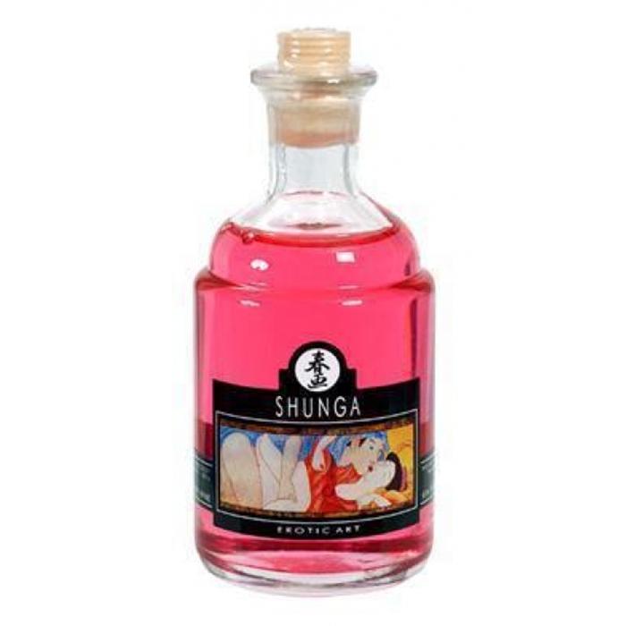 Возбуждающее масло для массажа Shunga, клубничное вино