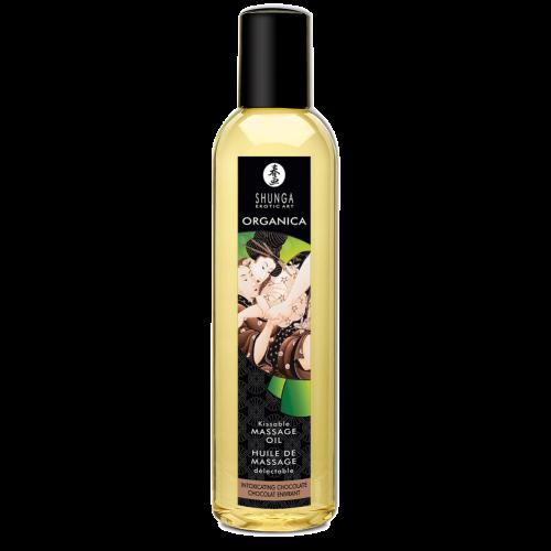 Органическое массажное масло Shunga Massage Oil Organic, шоколад