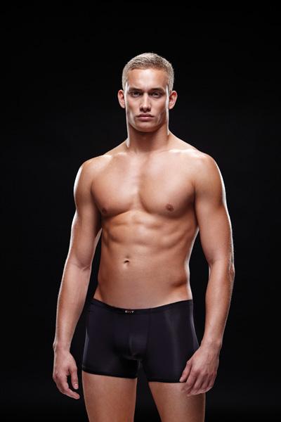 Черные мужские трусы боксеры Microfiber Boxer, размер M/L