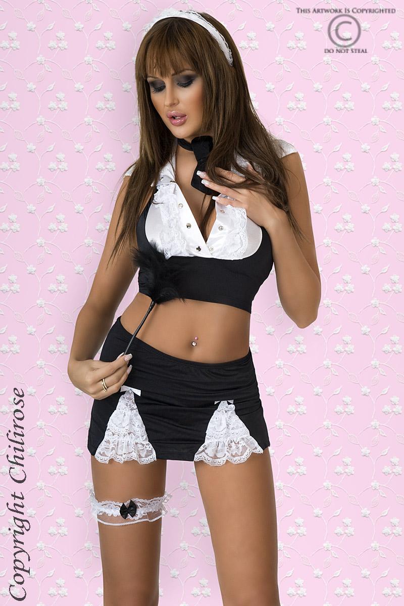 Игровой костюм сексуальной горничной Chilirose, размер S/M