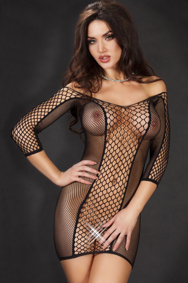 Черное эротичное платьице Chilirose, размер S/M