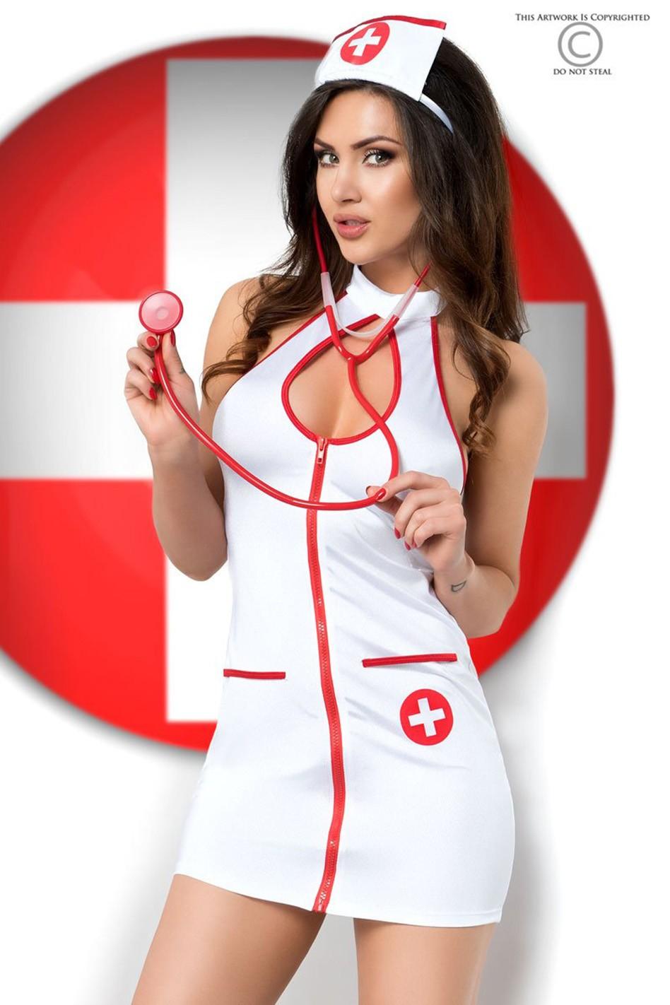 Костюм сексуальной медсестрички Chilirose S/М