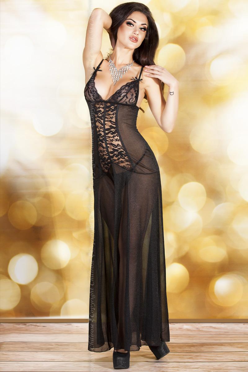 Черное эротичное платье Chilirose, размер L