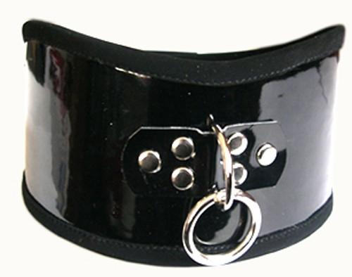 Широкий ошейник с кольцом