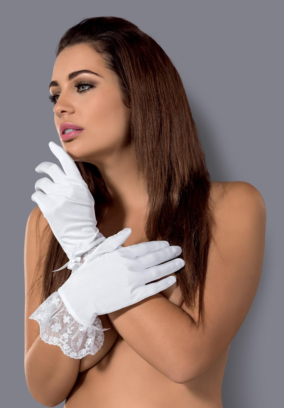 Перчатки Obsessive Etheria (Белый, S/M)