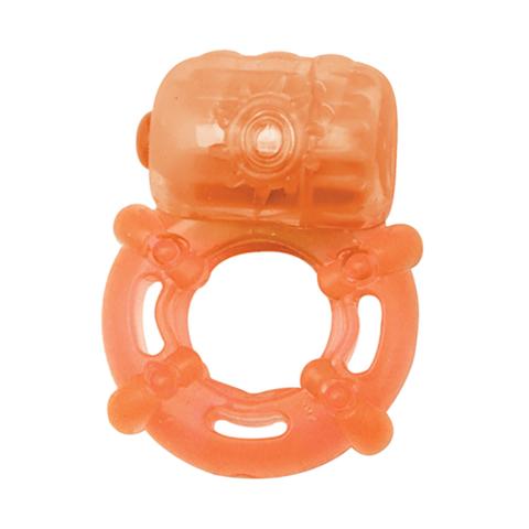 Эрекционное кольцо с вибрацией Climax Juicy Rings, Orange