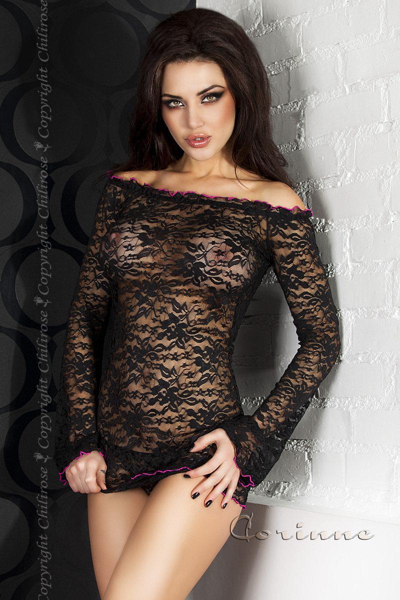 Черное эротическое мини-платье Chilirose, размер L