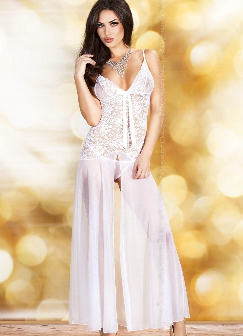 Эротичное платье BABBYDOLL+STRING WHITE M