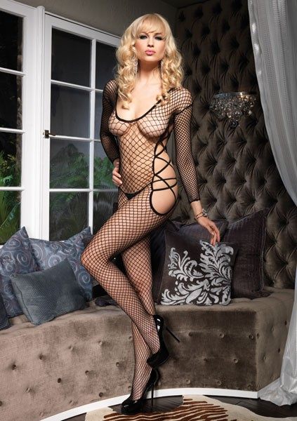 Комбинезон сетка LONG SLEEVED BODYSTOCKING