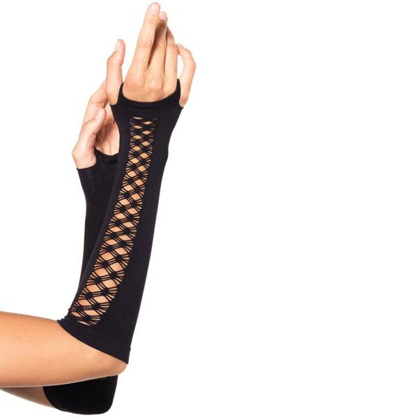 Перчатки со вставками в сеточку SEAMLESS GAUNTLET ARM