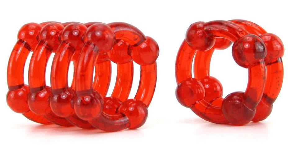Комплект эрекционных насадок COLT ENHANCER RINGS RED