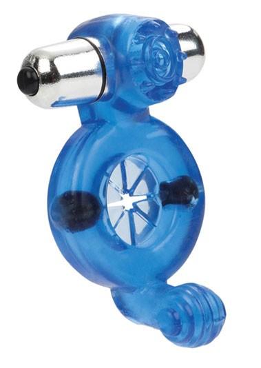Эрекционная вибронасадка MAGNETIC FULL CONTACT BLUE