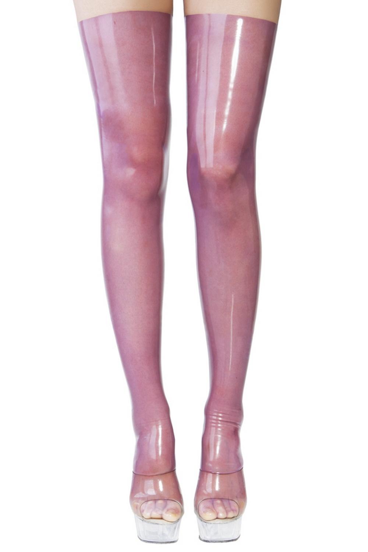 Чулки из прозрачного латекса Latex Stockings