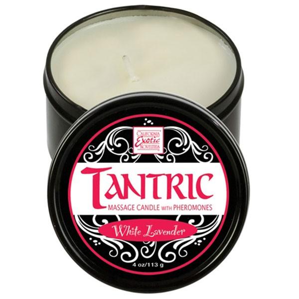 Массажная свеча TANTRIC CANDLE PHEROMONES WHITE LAVENDER
