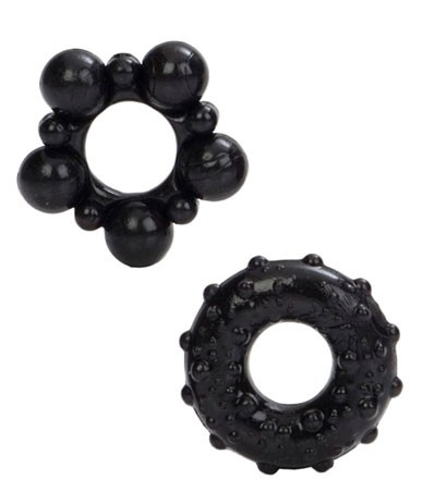Комплект эрекционных колец MUSCLE RINGS BLACK