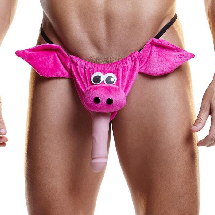 Мужские трусы стринги HUSTLER FUNDIES HERE PIGGY PIGGY