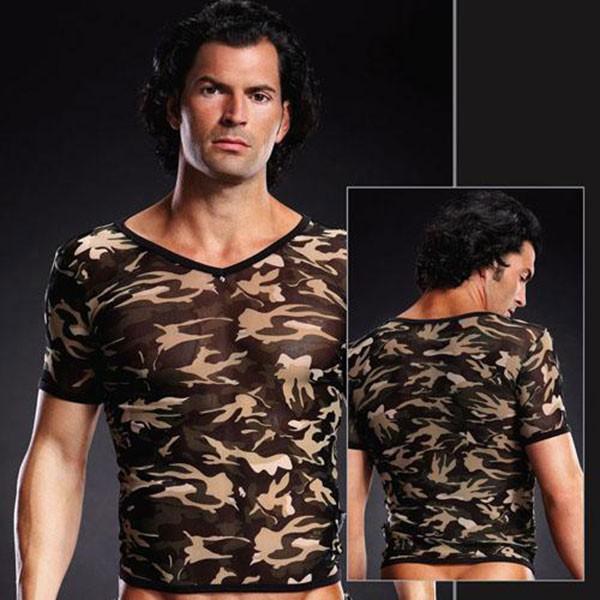 Мужская футболка в сетку хаки BLUELINE LXL