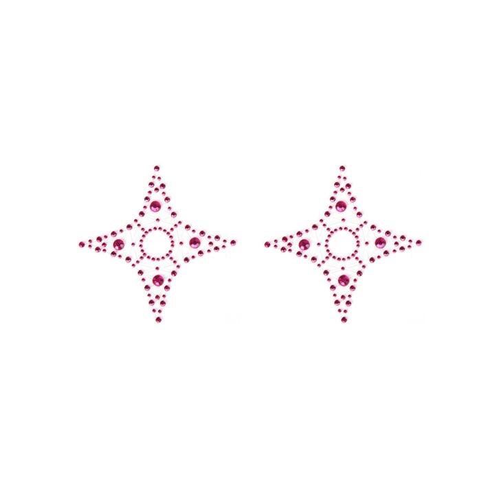 Наклейки на грудь - пэстисы EROTIC FANTASY PINK STAR