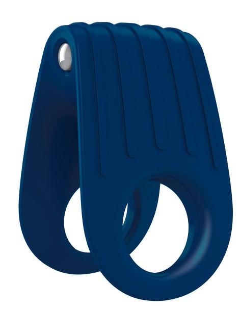 Эрекционное виброкольцо OVO B12 BLUE
