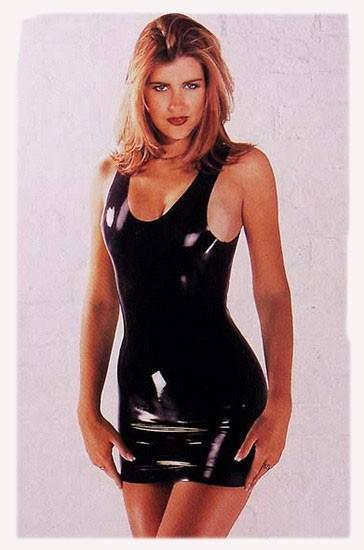 Платье латексное LATEX MINI DRESS BLACK SMALL
