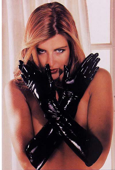 Porn latex glove