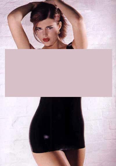 Платье латекс с открытым бюстом LATEX OPEN BREAST DRESS SMALL