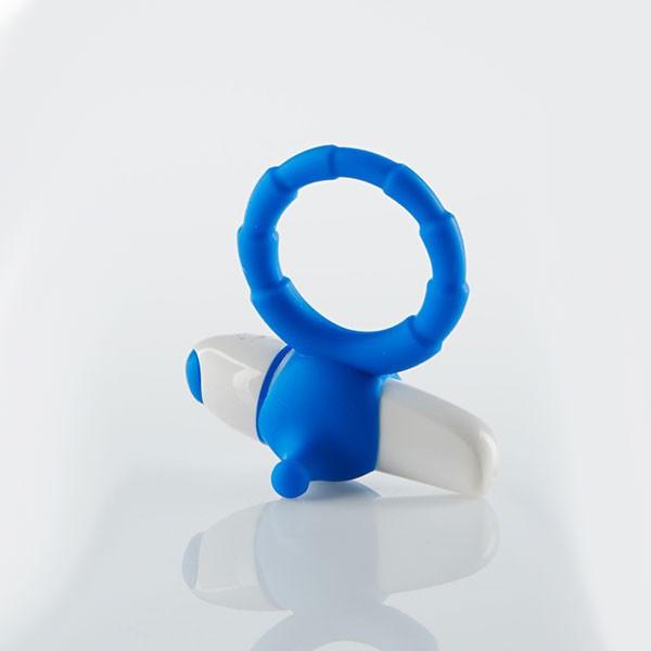 Эрекционная вибронасадка MY FAVORITE COUPLE RING BLUE