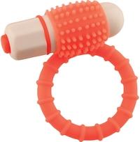 Эрекционное кольцо NEON EUPHORIA CLITORAL RING, оранжевое