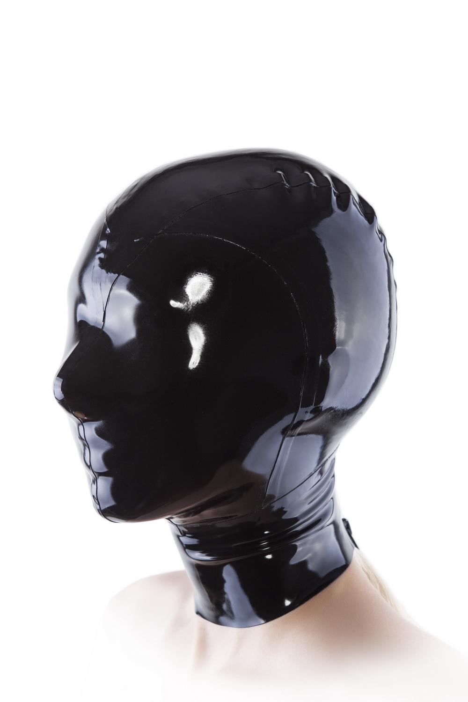 Маска из латекса с молнией сзади Latex Mask With Zipper