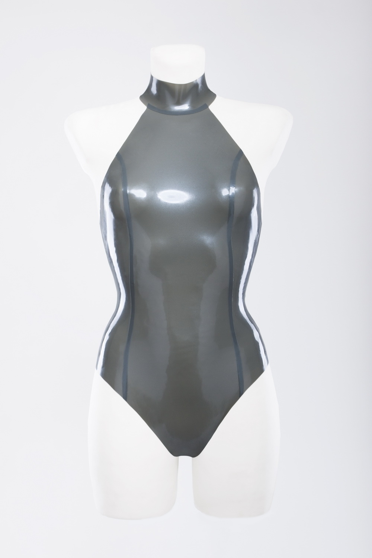 Латексный купальник с ошейником Latex Swimsuit With Collar