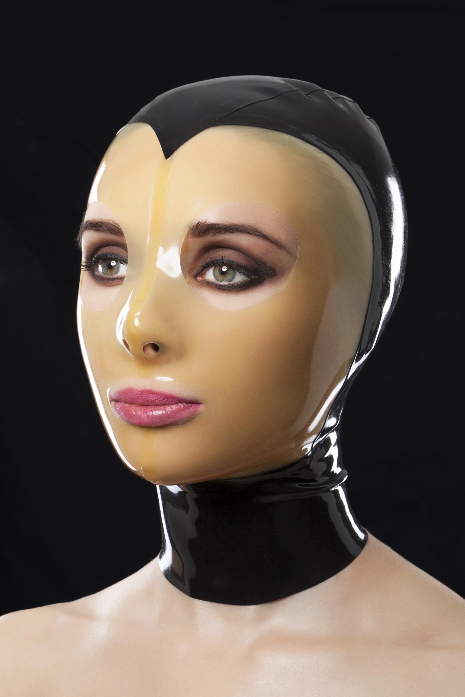 Маска из прозрачного латекса с молнией сзади и вырезами для рта и глаз Transparent Latex Mask With Z