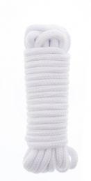 Веревка для бондажа Bondx Love Rope, 5 м, белый