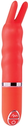 Вибромассажер PURRFECT SILICONE VIBRATOR 3.5INCH, красный
