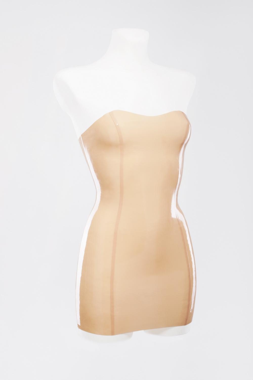 Мини платье без бретелей из латекса Latex Mini Dress