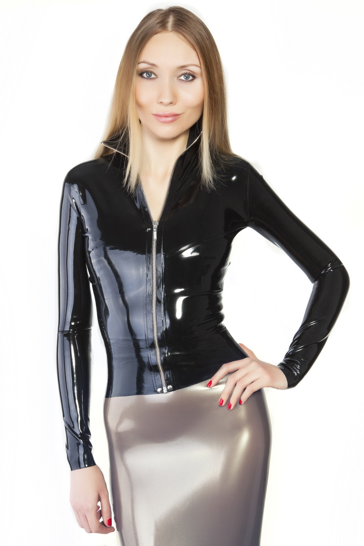 Курточка из латекса на разъемной молнии Latex Jacket With Zipper
