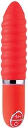 Вибромассажер PURRFECT SILICONE VIBRATOR 3INCH, красный